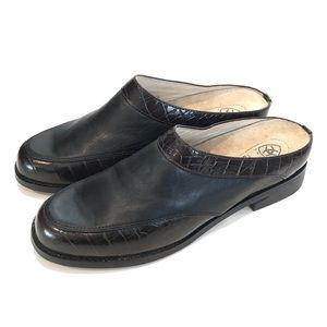 Ariat Women's Clogs Mules Slip Ons Leather Size 8